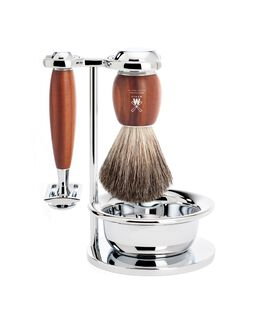 Vivo 4 Piece Razor Set - Plum Wood