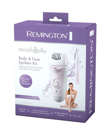 Smooth and Silky Body and Face Epilator Kit