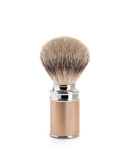 Silver Tip Badger Brush - Rose Gold