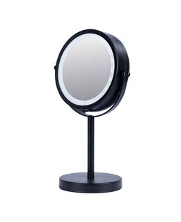 Vogue Illuminated Metal Double Sided Mirror - Black