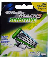 Mach 3 Sensitive Blades Refill 8 Pack