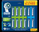 Oral B Cross Action 8pk + Precision Clean 4pk Refills