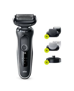 Series 5 Easy Rinse Shaver with Beard Trimmer Head  & Charging Stand