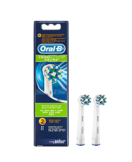 Oral-B Cross Action Toothbrush Brush Head Refills 2 Pack