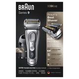 Series 9  Latest Generation Wet & Dry Electric Shaver with Clean&Charge Station and Leather Travel Case