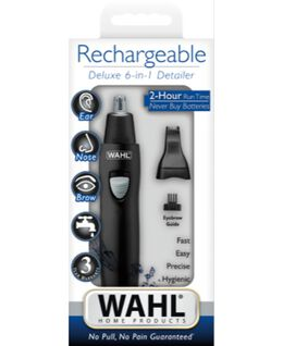 Rechargeable 6 in 1 Nose, Ear & Brow Trimmer