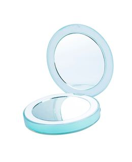 Chic Rechargeable Compact Mirror - Teal Blue