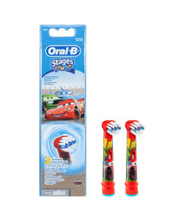 Oral-B Stages Kids Disney CARS Toothbrush Brush Head Refills 2 Pack