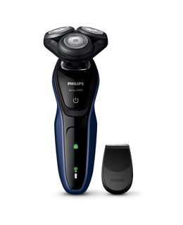 Series 5000 Shaver with Precision Trimmer - Black/Blue
