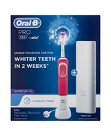 Pro 100 3D White Polish Electric Toothbrush, Pink